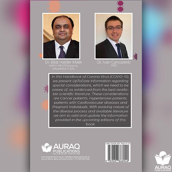 Back Cover of HANDBOOK OF CORONA VIRUS (COVID-19) by Dr Bilal Haider Malik
