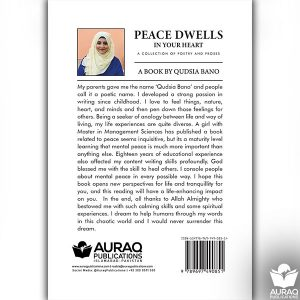 Peace Dwells In Your Heart by Qudsia Bano - Back